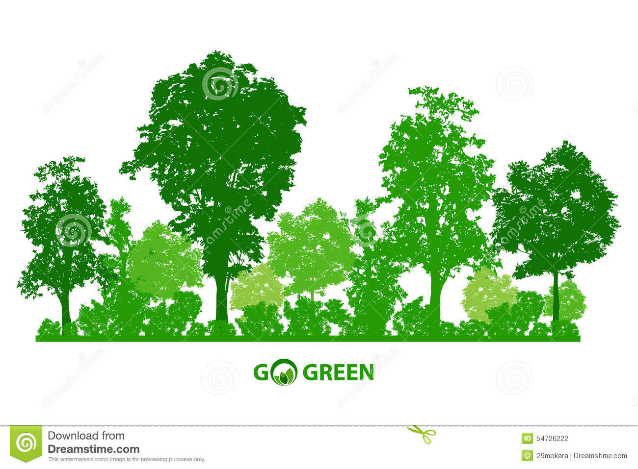 green tree forest - photo #37