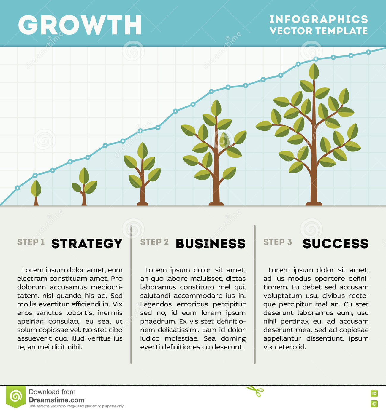 Green tree and plant timeline diagram infographics vector template download green tree and plant timeline diagram infographics vector template business growth concept stock vector wajeb Choice Image