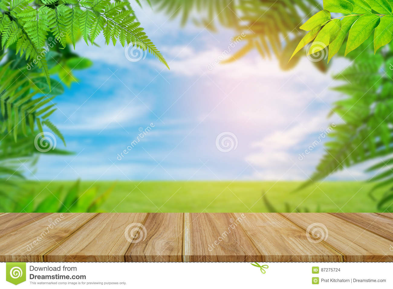Green Trees And Leaf Greenery Sky Cloud Background Stock