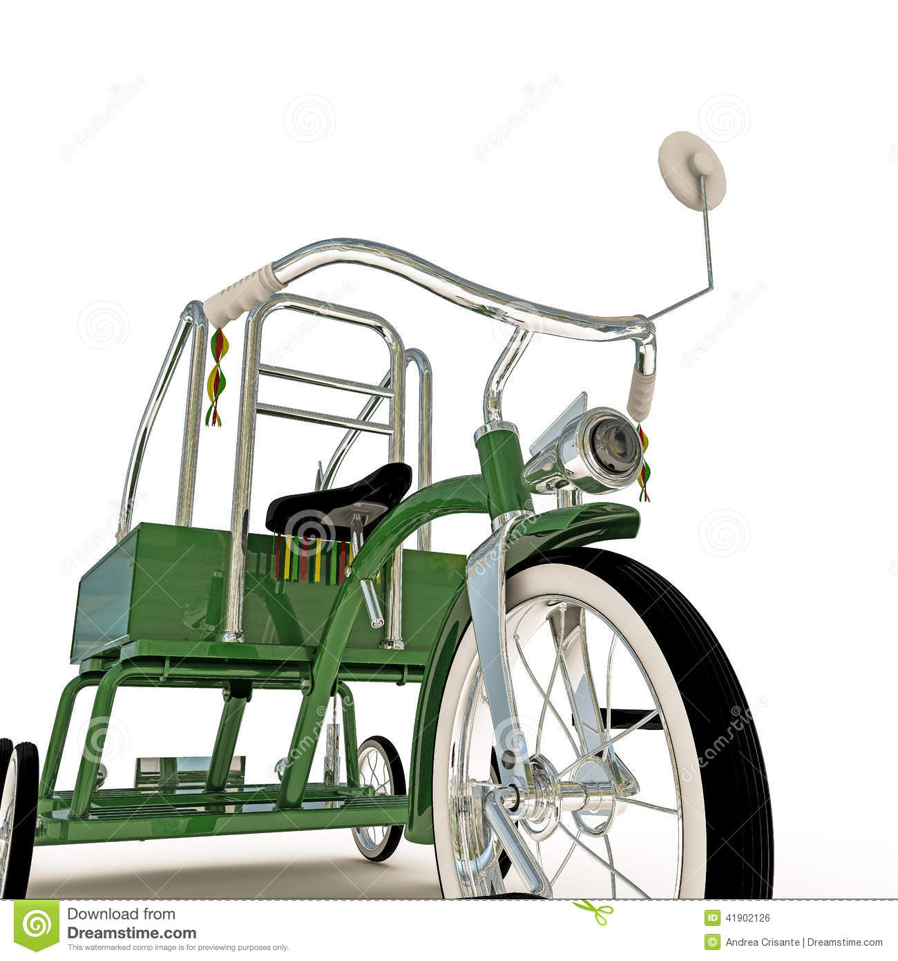 Green tricycle