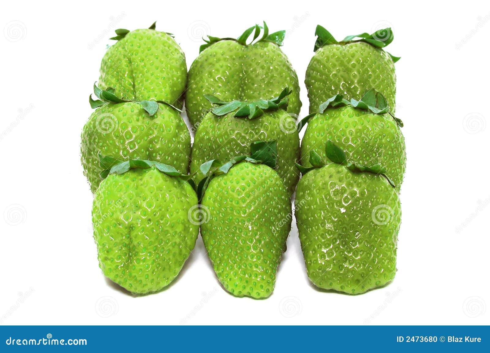 Unripe Strawberries Green Unripe St...