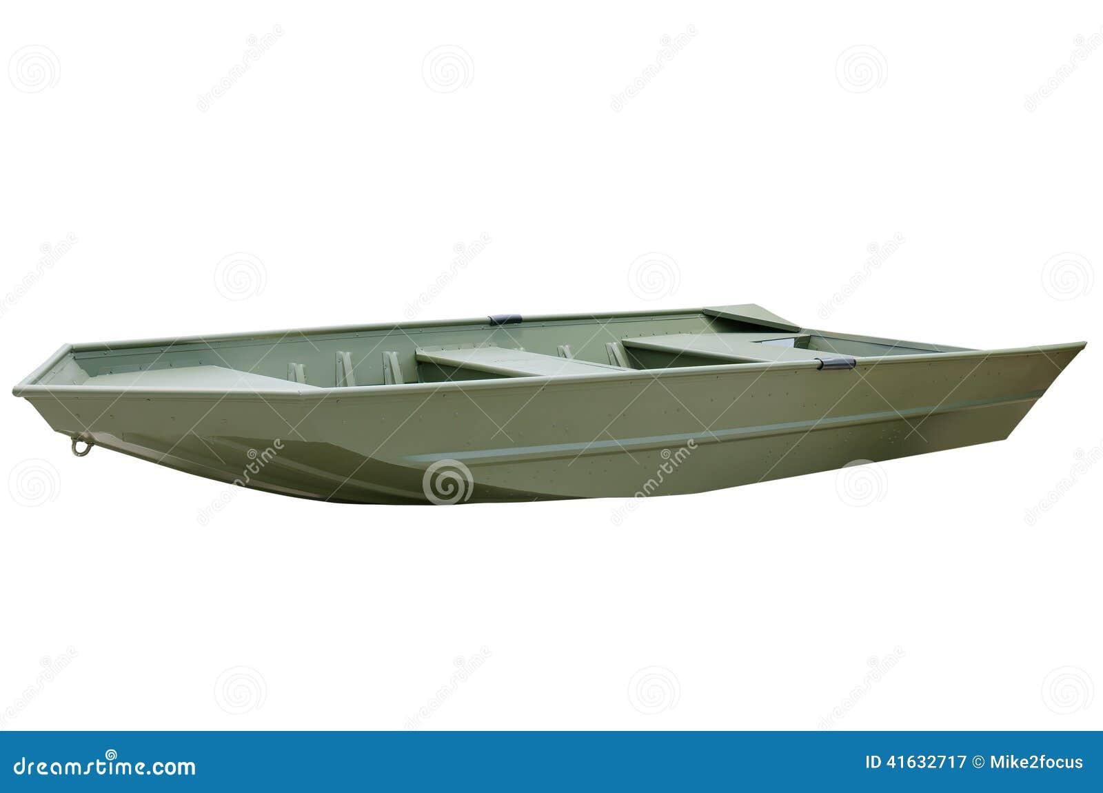 Green V Bottom Aluminum John Jon Boat Stock Image Image