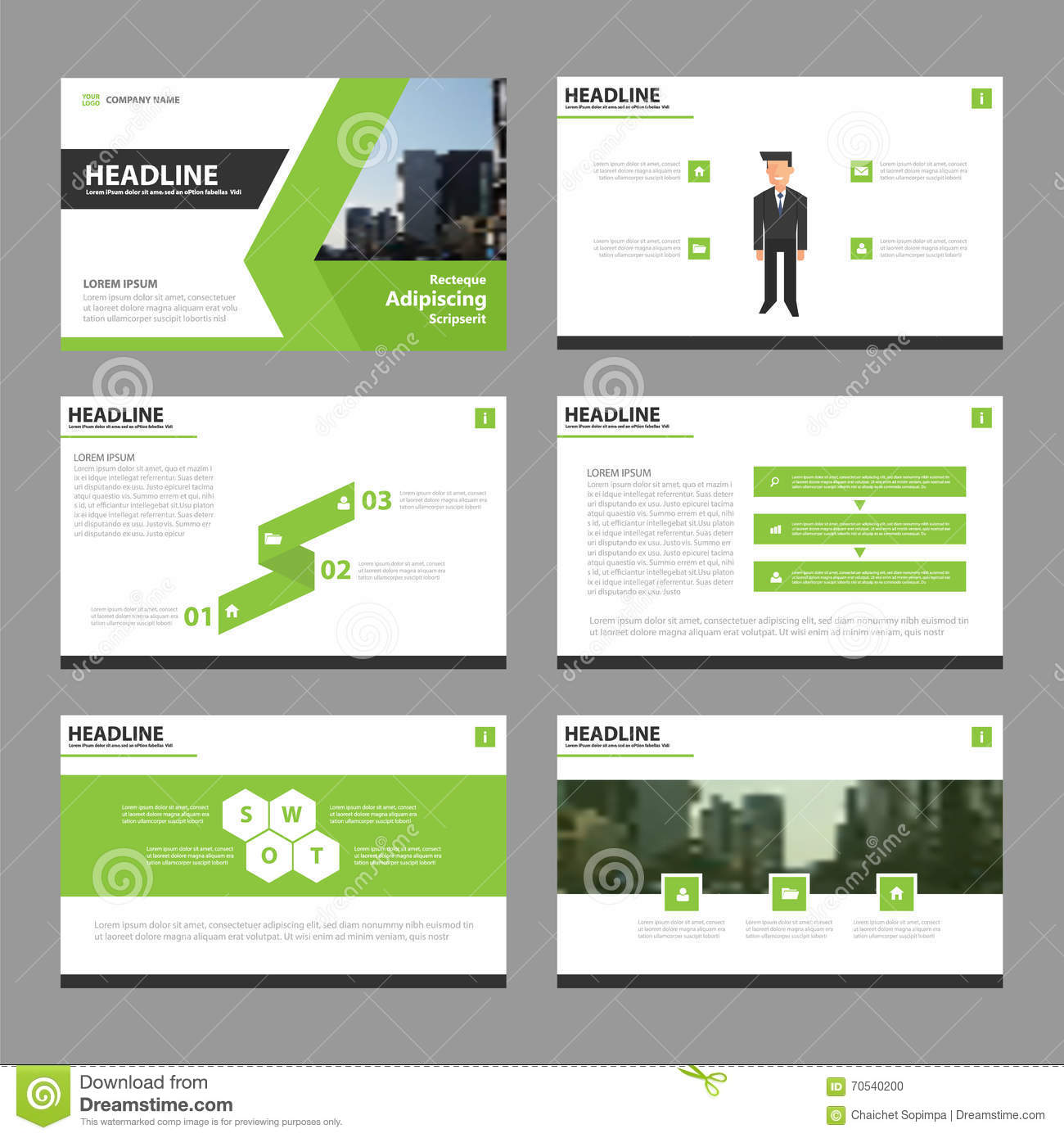green vector annual report leaflet brochure flyer template design, Powerpoint templates
