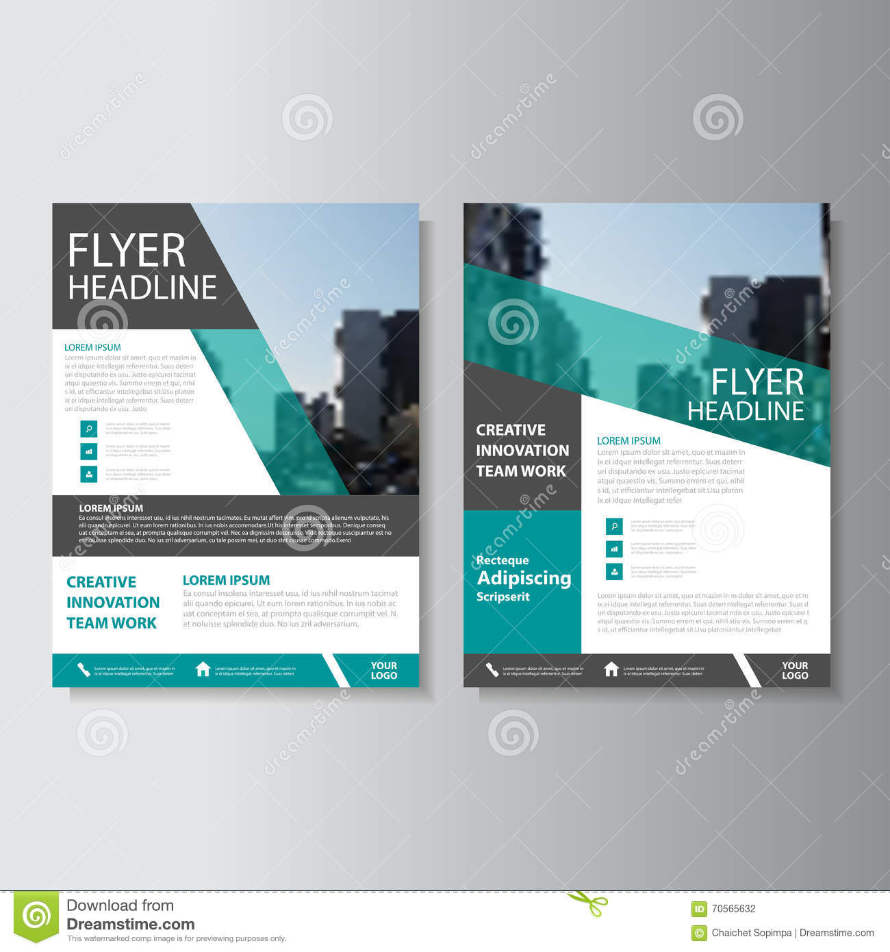 Book Cover Graphic Design Software : Green vector annual report leaflet brochure flyer template
