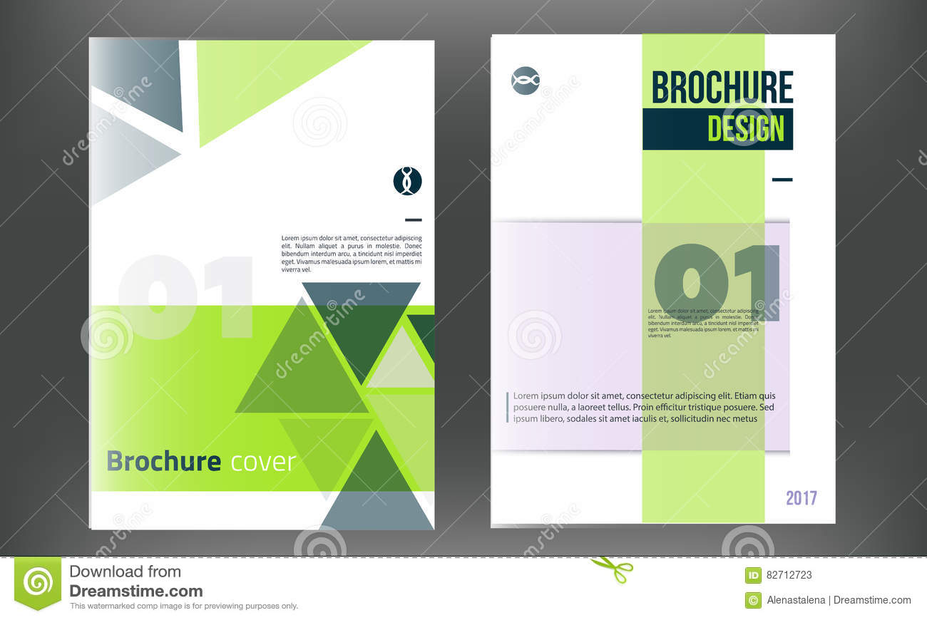 green vector brochure cover template business annual report design