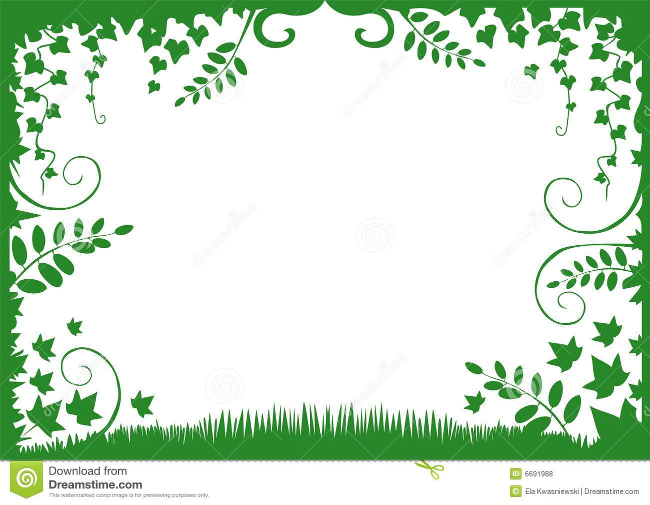 free green floral frame - photo #30