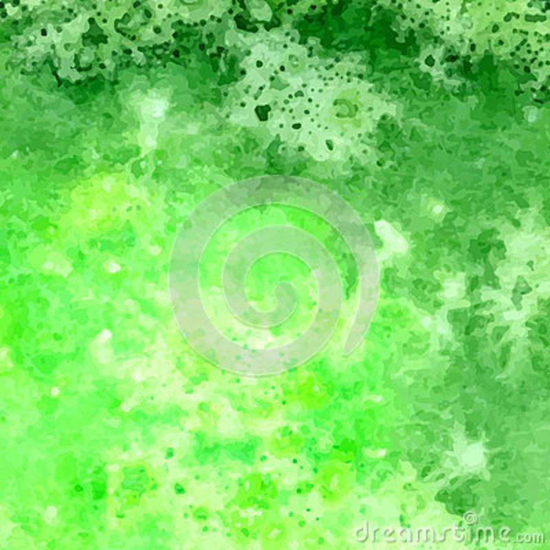 Green Vector Watercolor Hand Drawn Background Set For You