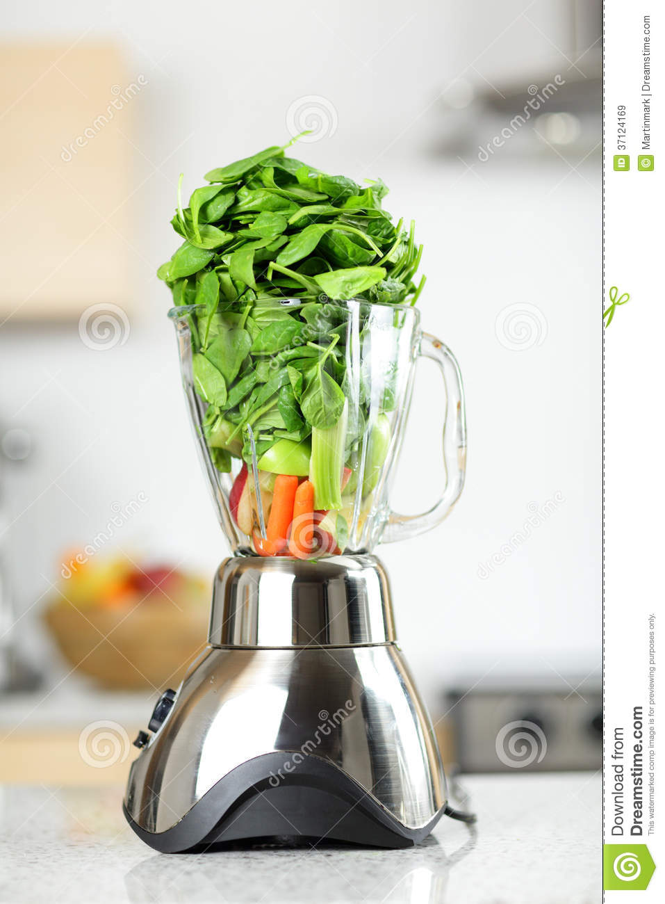 green vegetable smoothie in blender royalty free stock images image 37124169. Black Bedroom Furniture Sets. Home Design Ideas