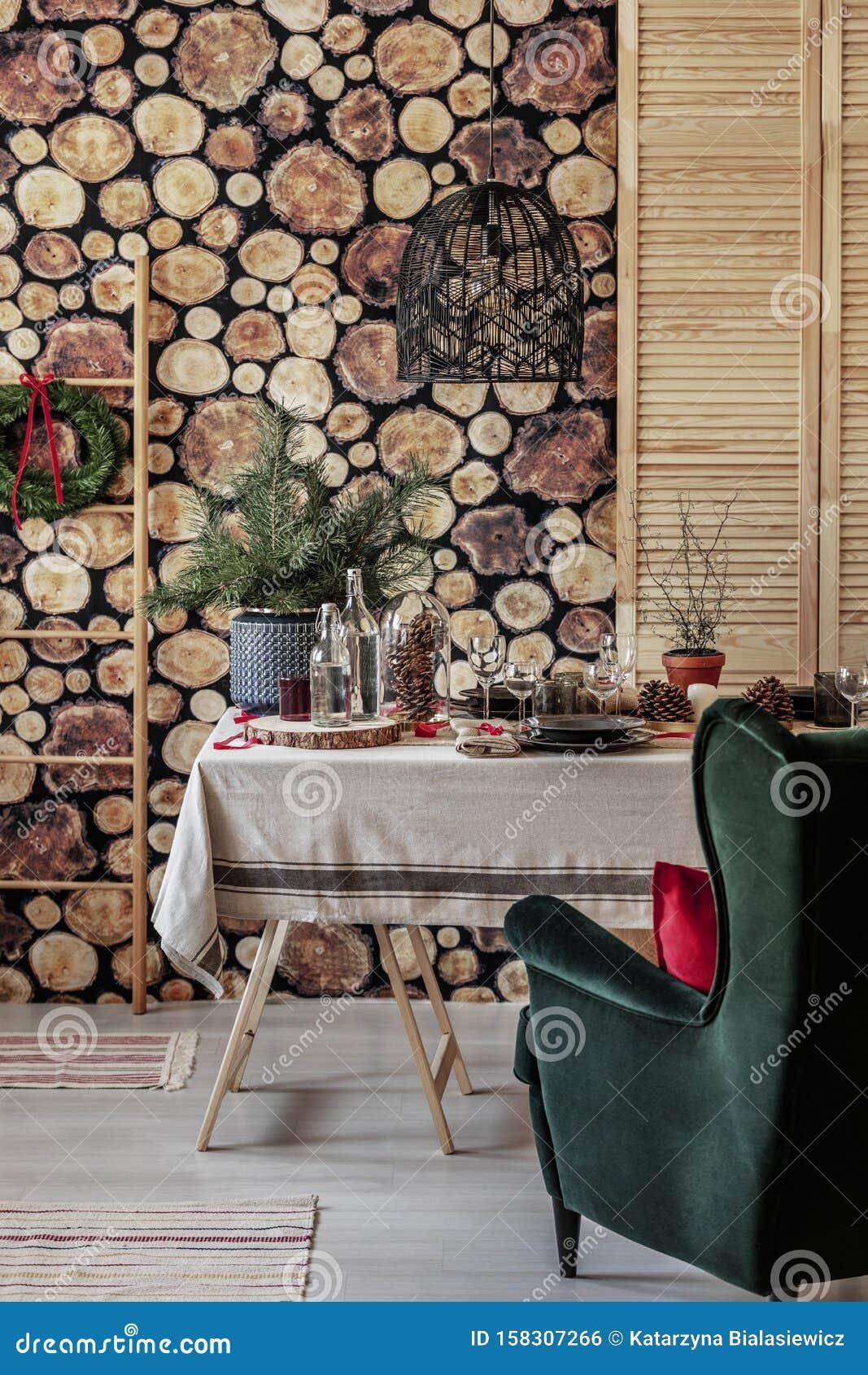 Green Velvet Armchair In Cozy Modern Living Room Stock Photo Image Of Dining Decoration 158307266