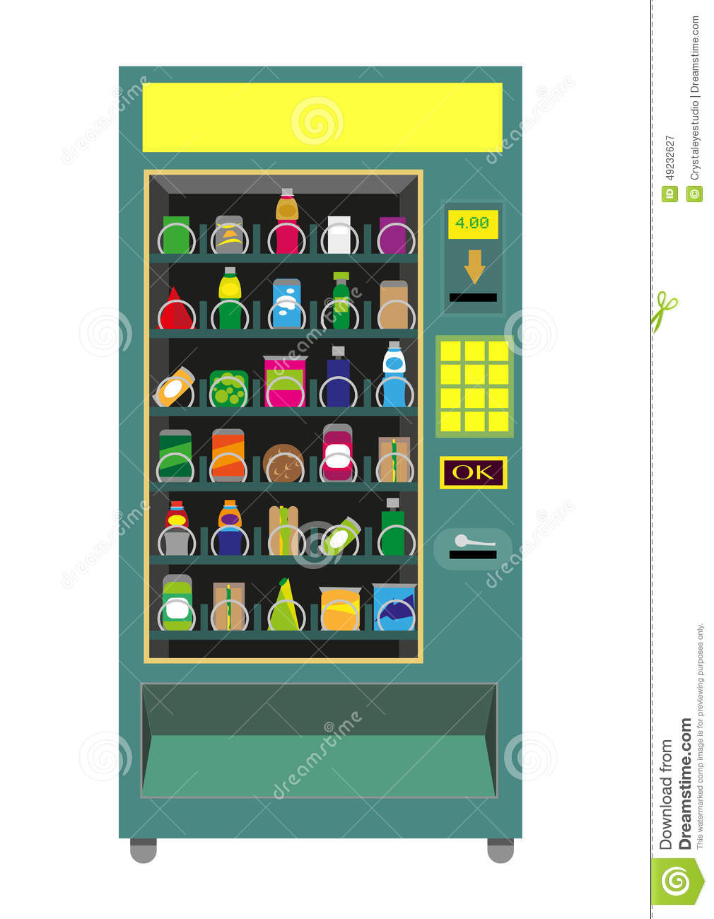 green vending machine
