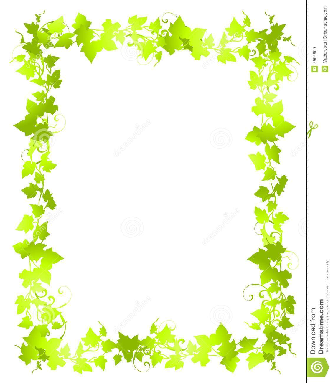 green vine leaf frame borders stock illustration illustration of rh dreamstime com holly leaf border clip art fall leaf border clip art