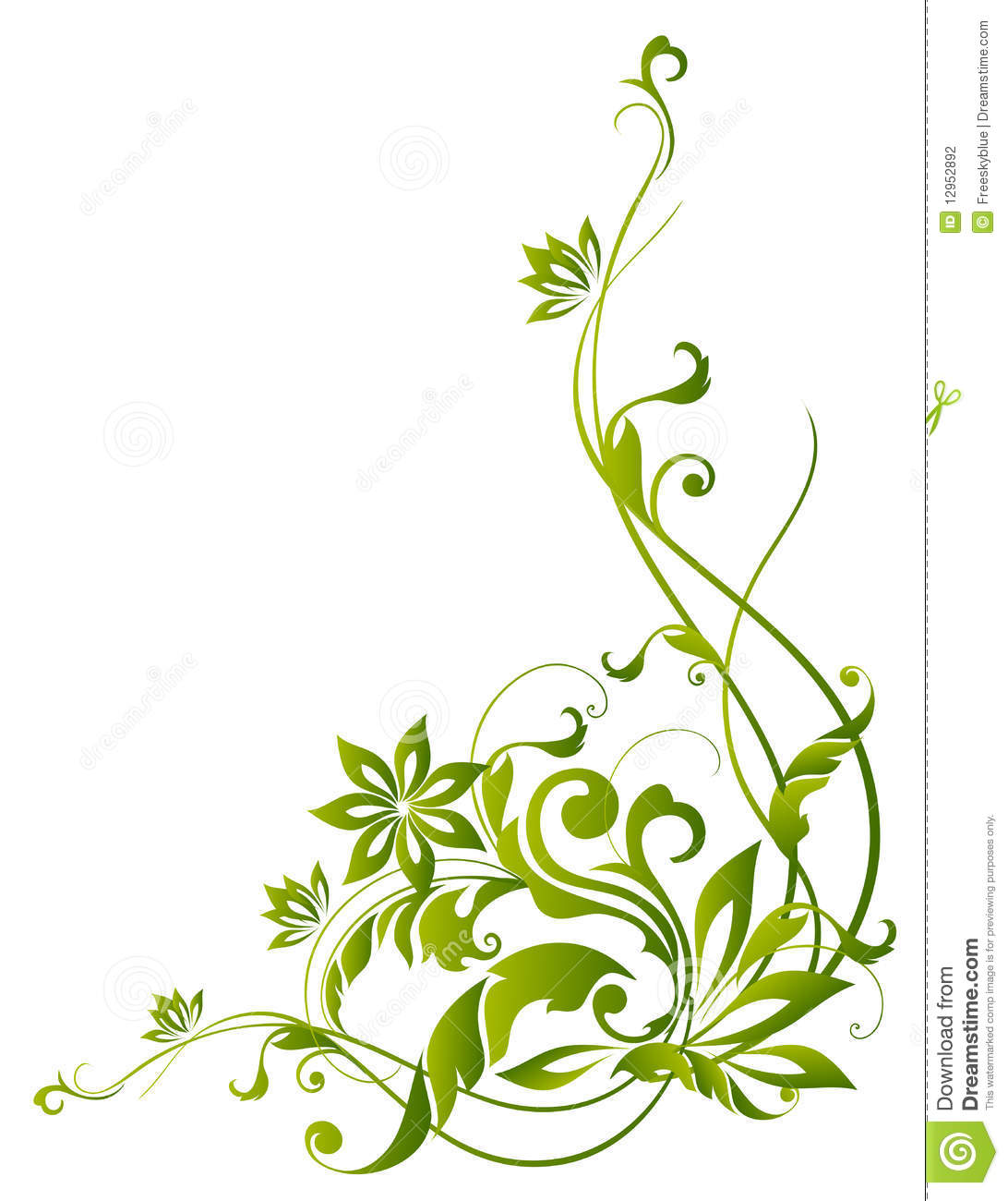 Green and white floral pattern - photo#33