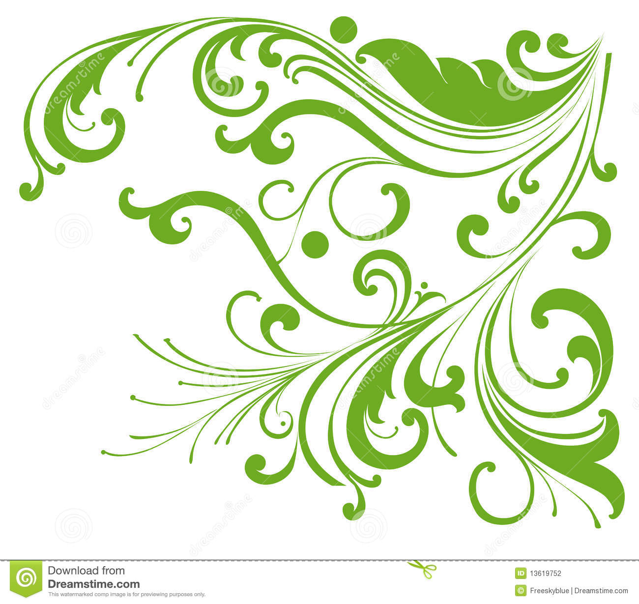 Green vines pattern stock illustration. Illustration of ...