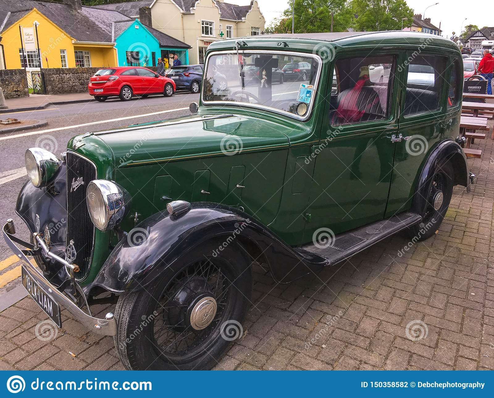 Green Vintage Austin Motor Car Editorial Photography Image Of Convertible Drive 150358582