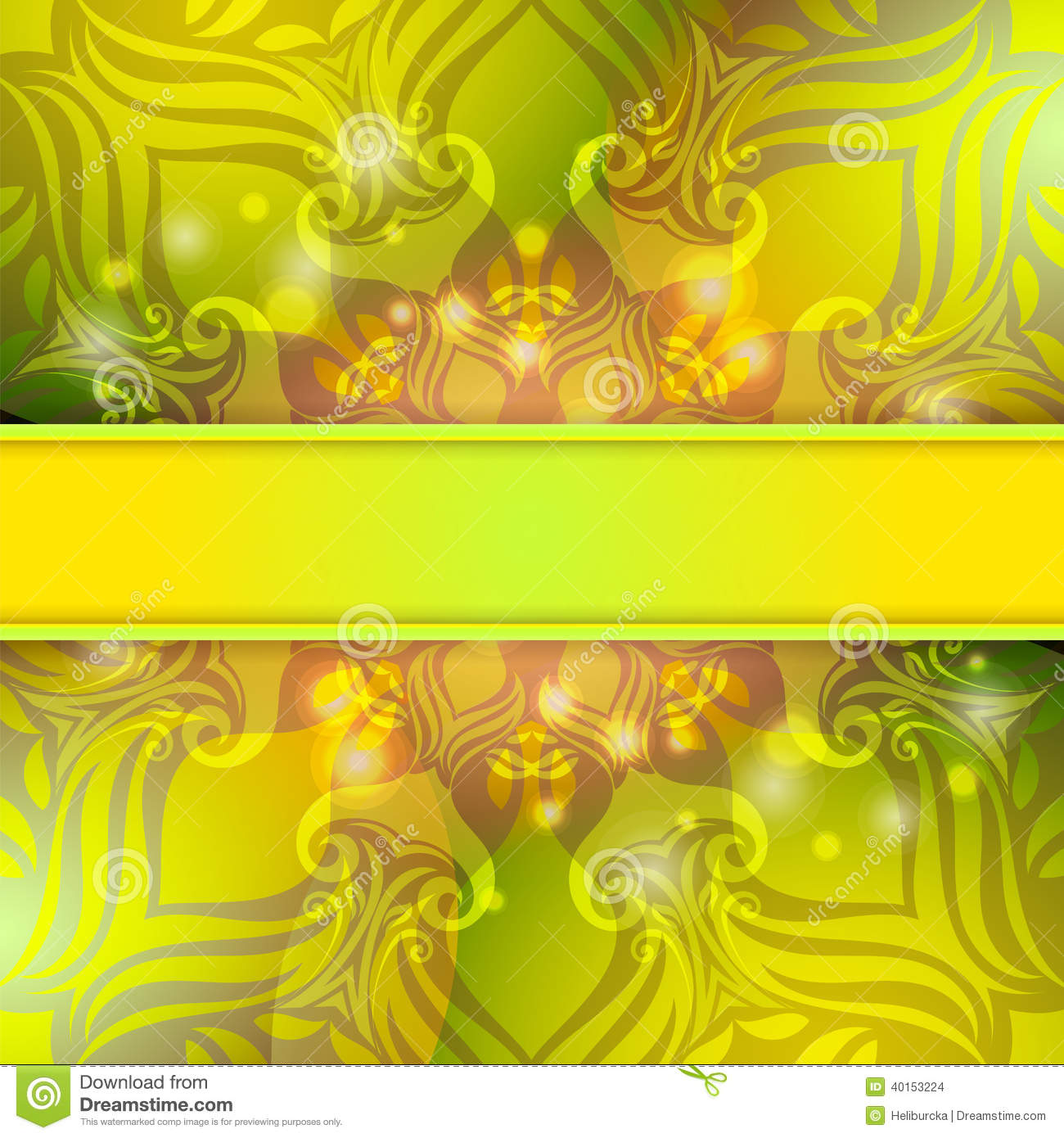 Green Vintage Vector Abstract Background Stock Vector - Illustration ...