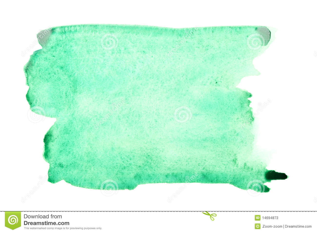 Green Watercolor Brush Strokes Stock Photos - Image: 14694873