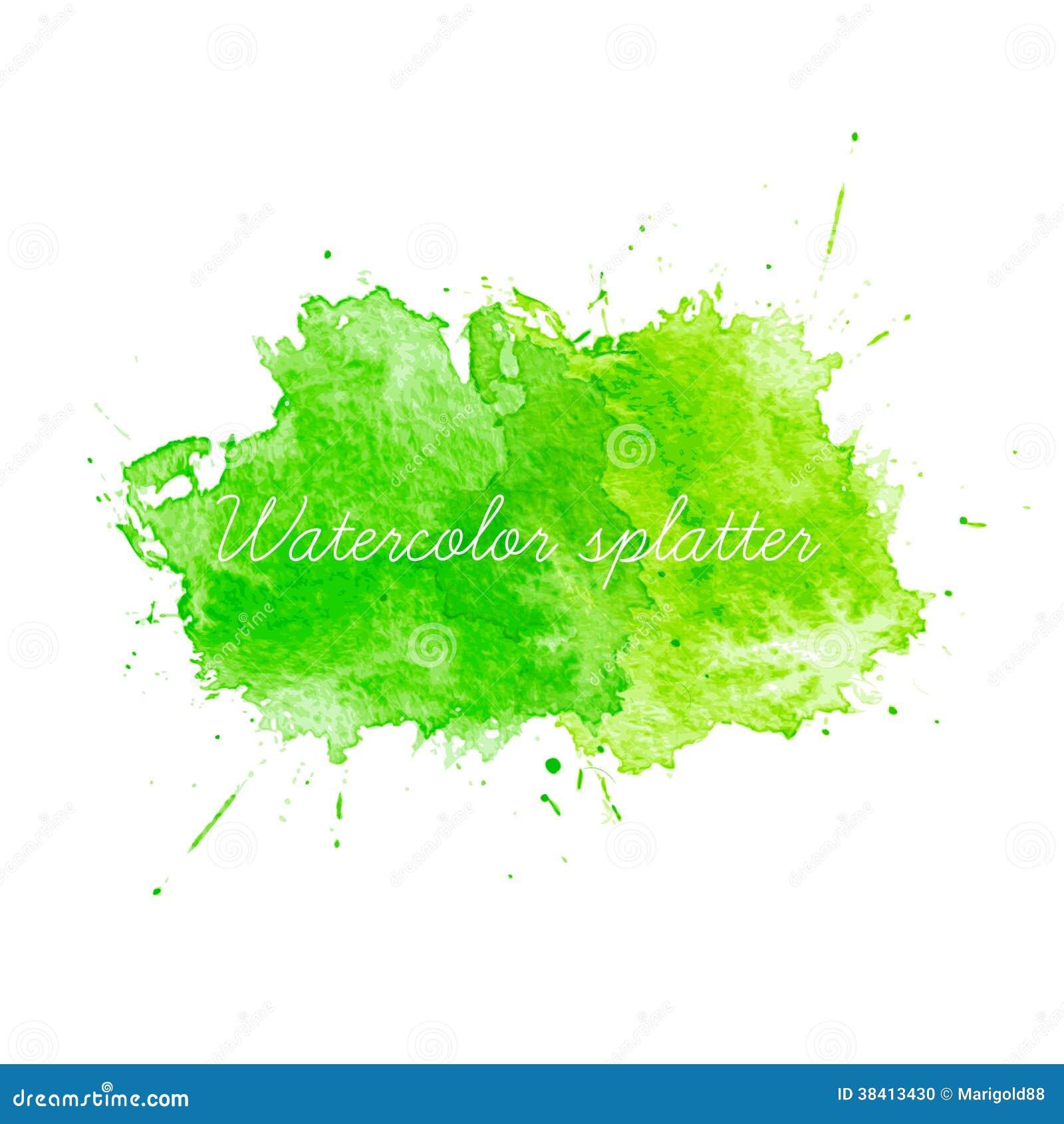 Paint texture paints background download photo color paint texture - Green Watercolor Splatters Stock Photo Image 38413430