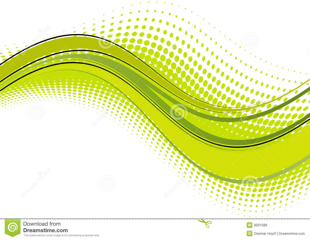 Green wave abstract