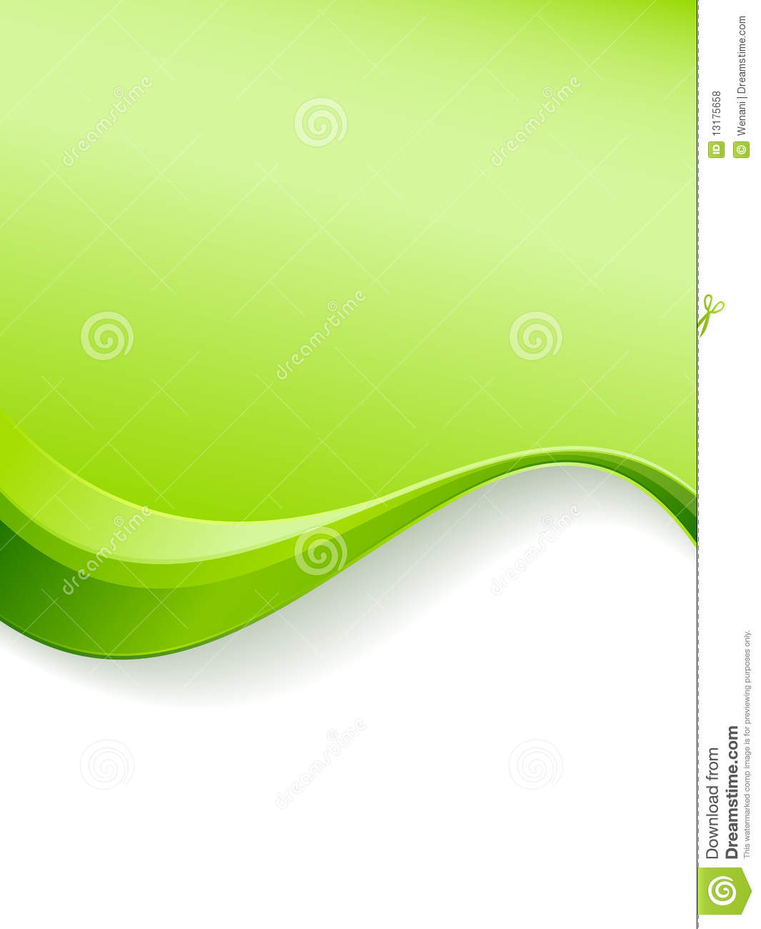 green wave background template stock vector - illustration of space