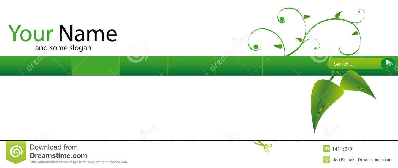 Green web header