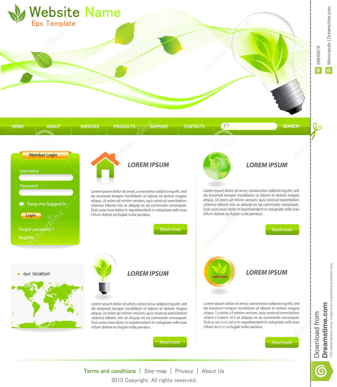 Green website templates royalty free stock image image for Website layout design software free download