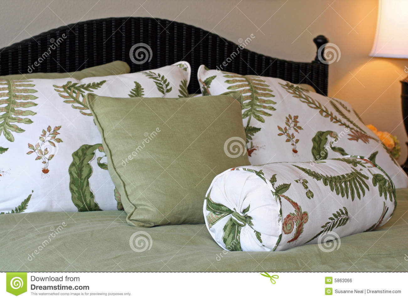 green bedding royalty free stock images  image  - green  white bedding pillows royalty free stock image