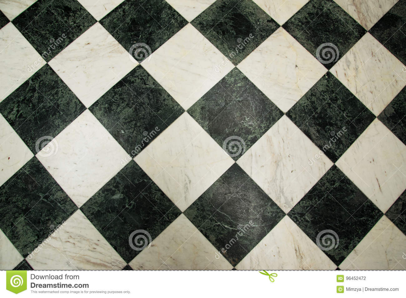 Green And White Checkered Marble Floor Pattern Stock Photo Image Of Ceramic Flooring 96452472