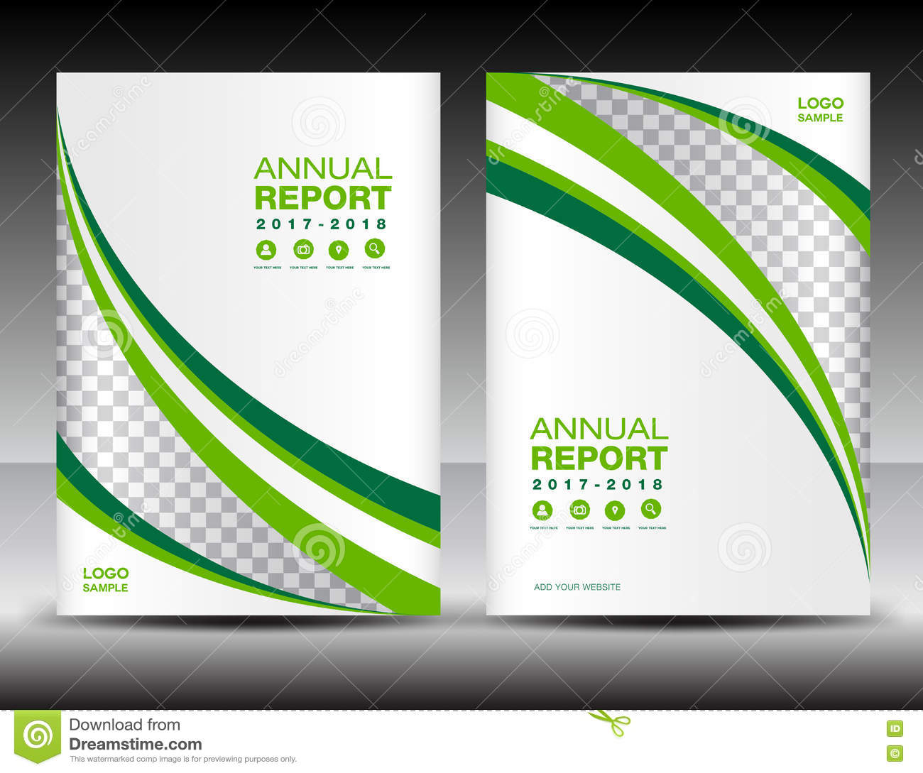 Green And White Cover Template  Cover Annual Report Cover