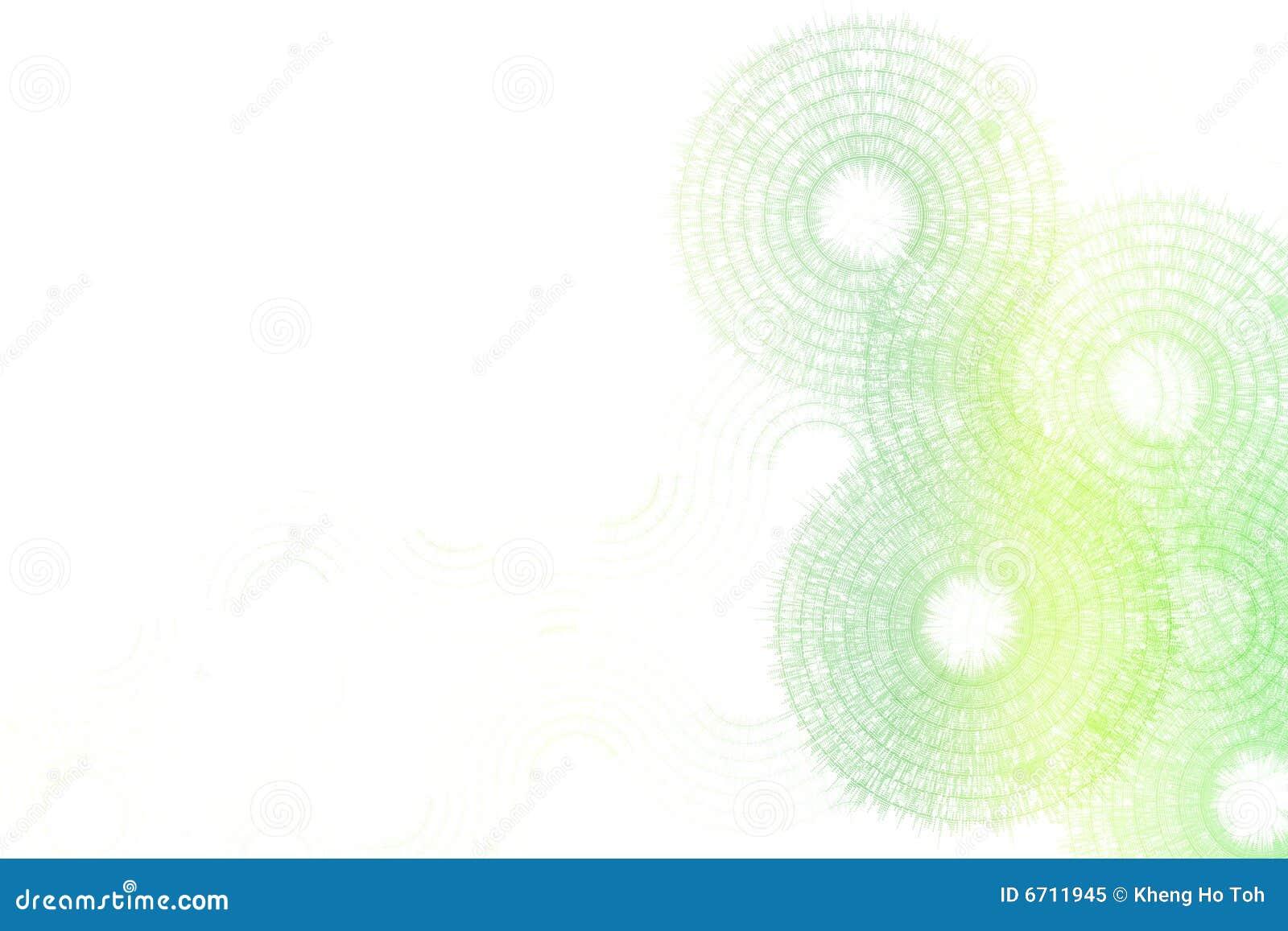 Green White Fractal Abstract Design Stock Illustration