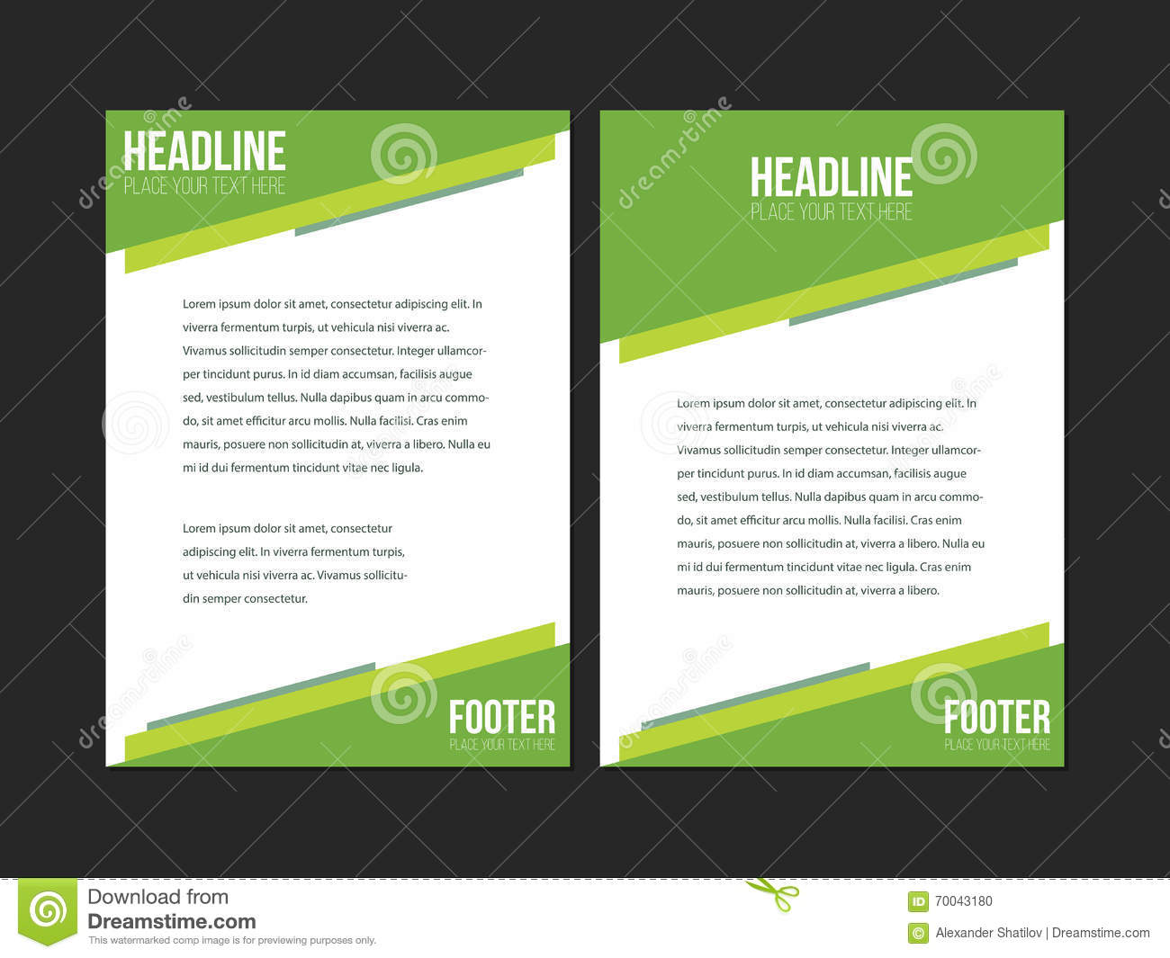 Wonderful Green Flyer Templates