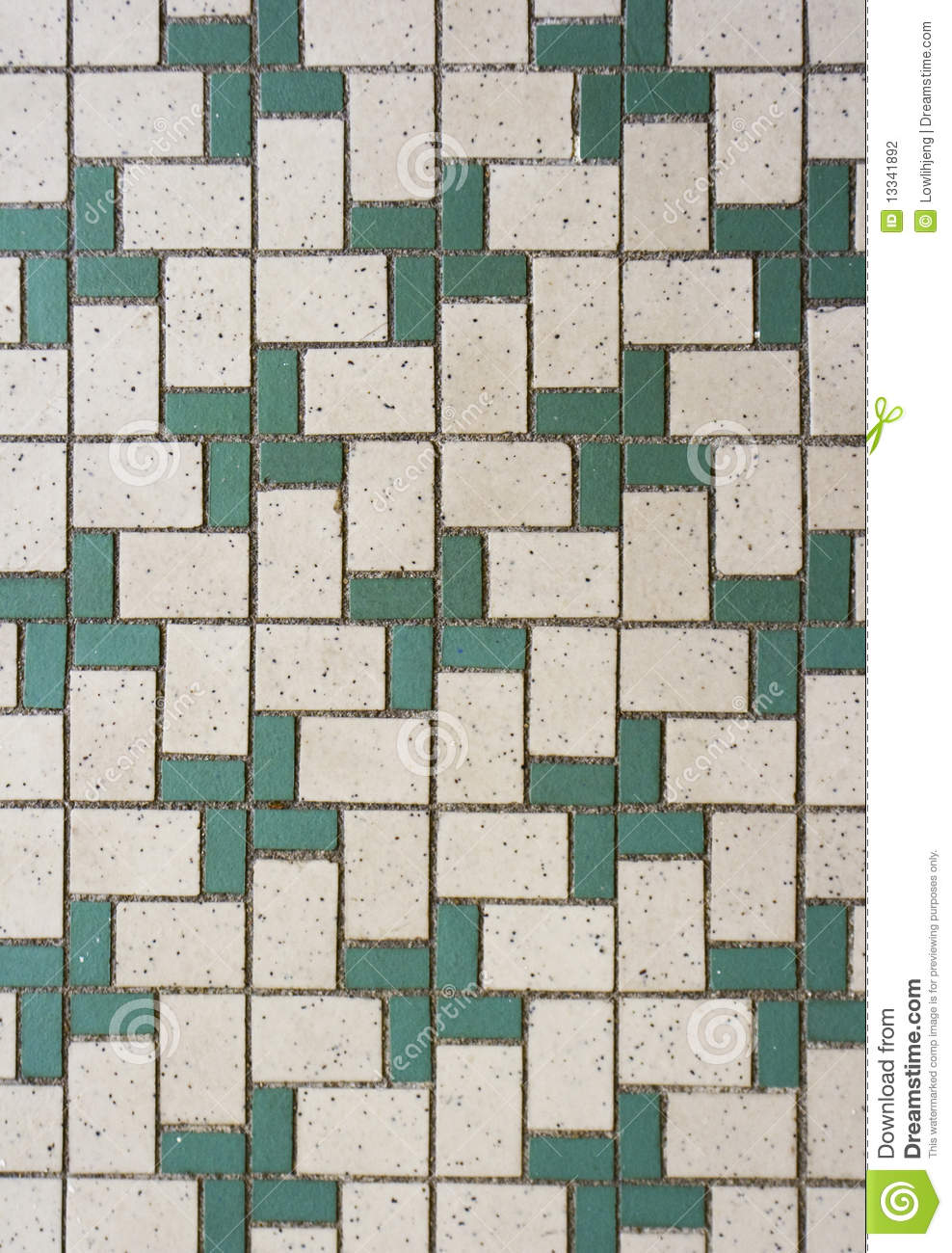 Green And White Mosaic Tiles Stock Photography Image