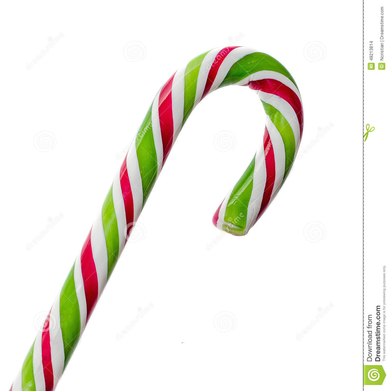 Candy Christmas.Green White And Red Candy Christmas Stick Lollipop Stock
