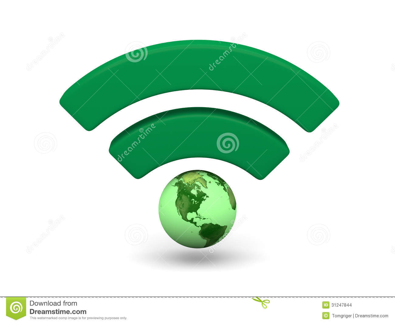 Unlimited Wifi Hotspot >> Green WiFi Symbol Stock Images - Image: 31247844