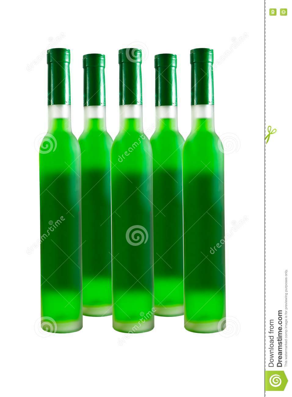 Green wine bottle royalty free stock photography image for Green wine bottles