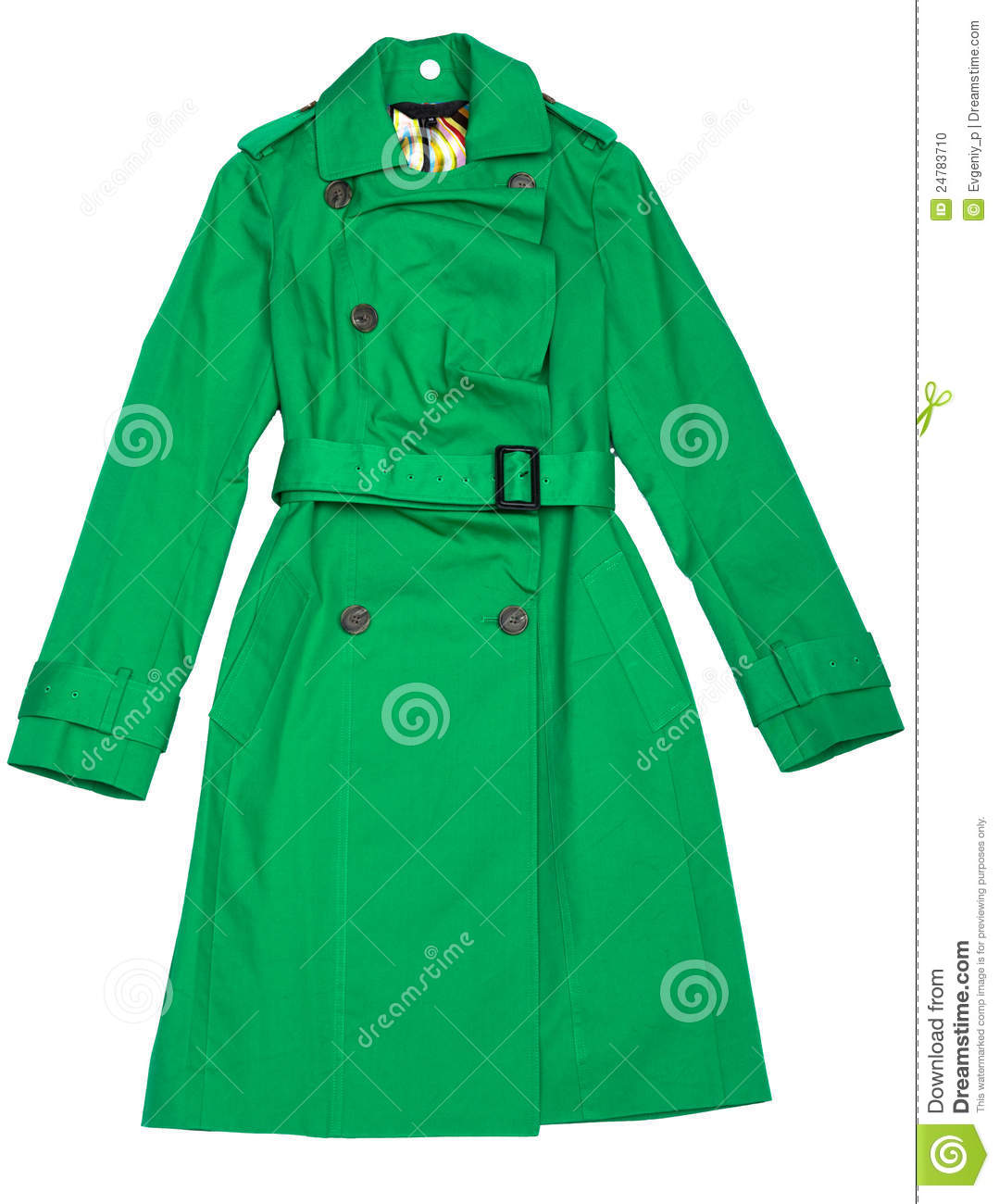 Green Women's Raincoat Stock Photo - Image: 24783710