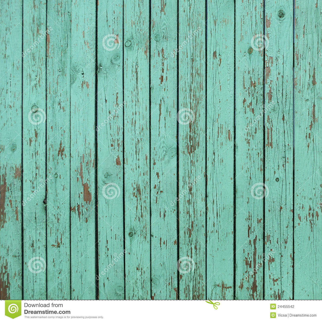 Download Green Wooden Fence Background Stock Photo   Image Of Cracked,  Pine: 24455542