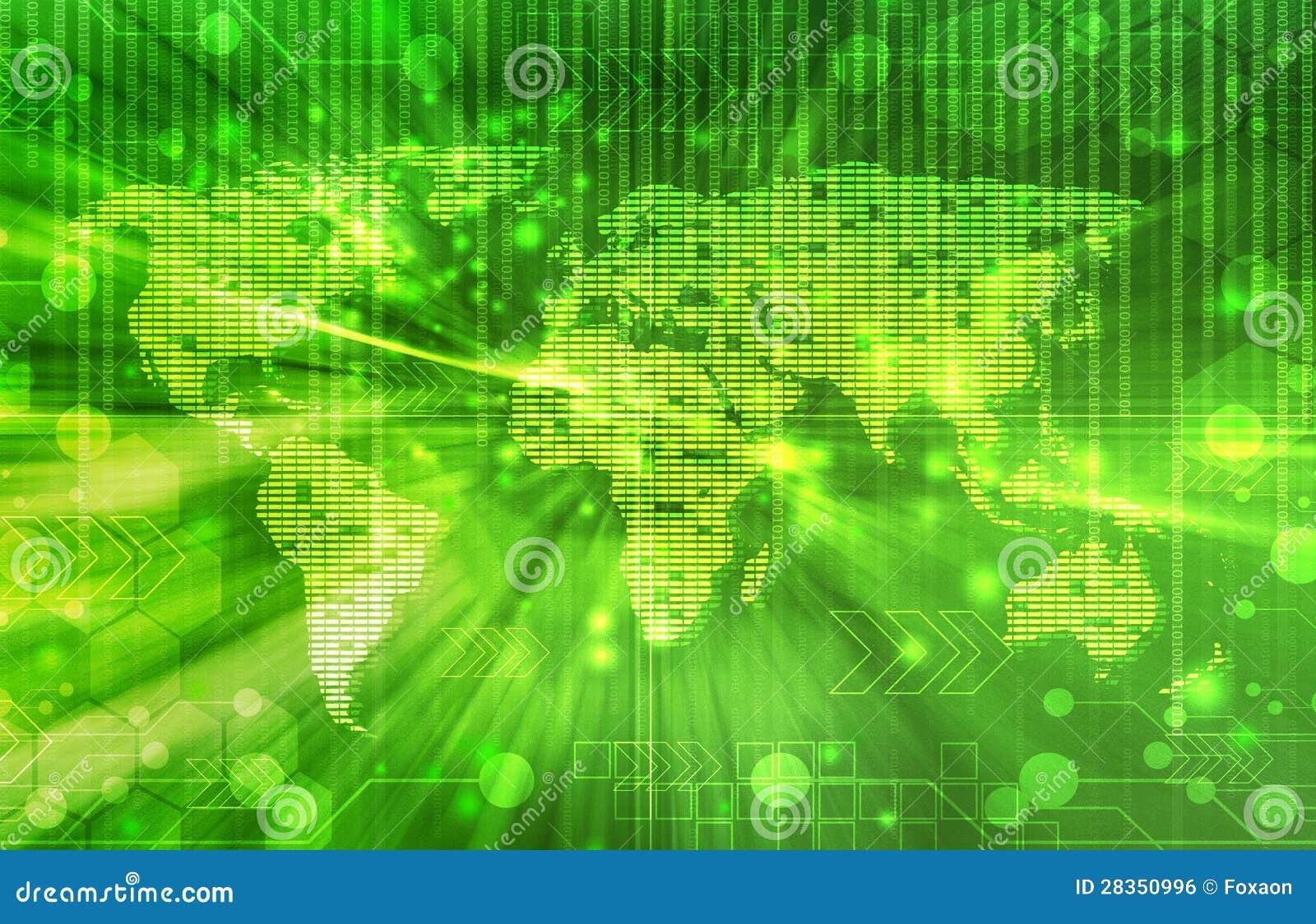 Green World Digital Background Royalty Free Stock Image