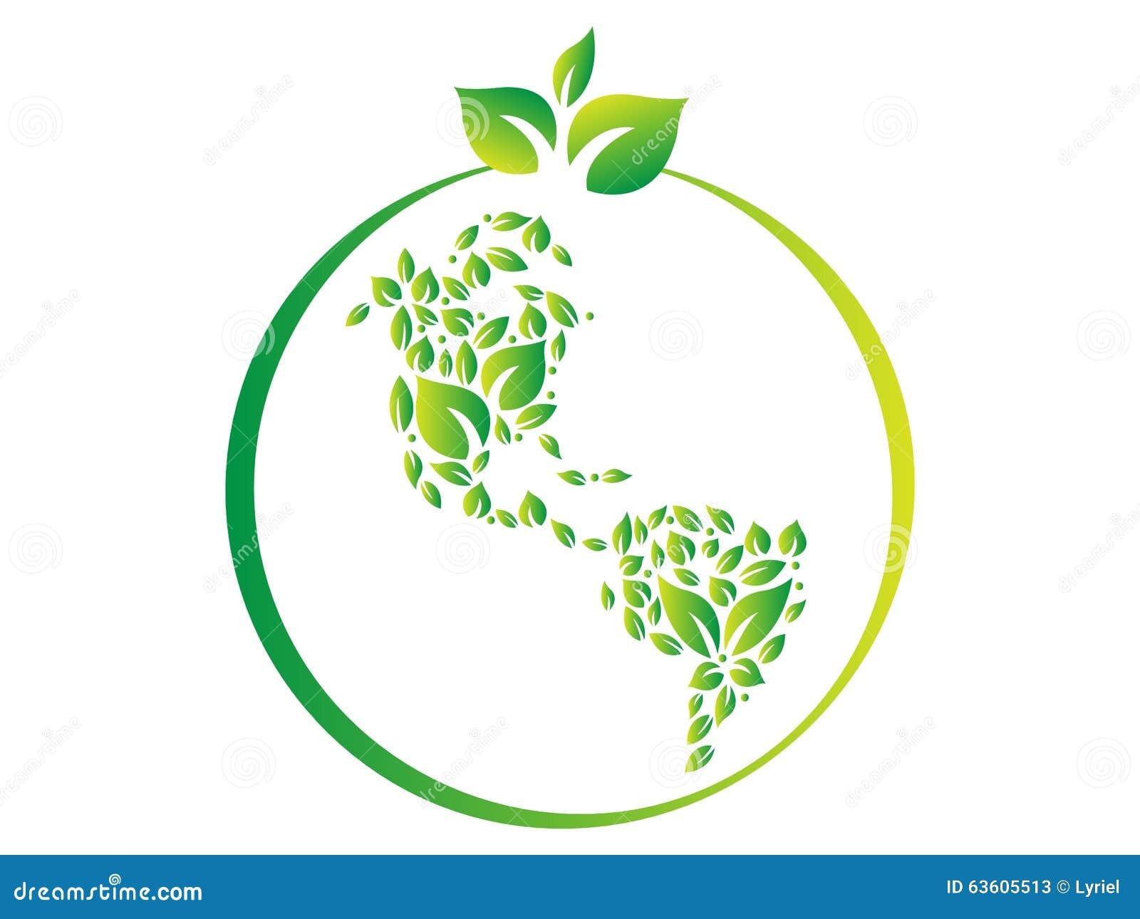 Green world logo stock vector. Image of abstract, ecology ... Green Earth Logo Vector