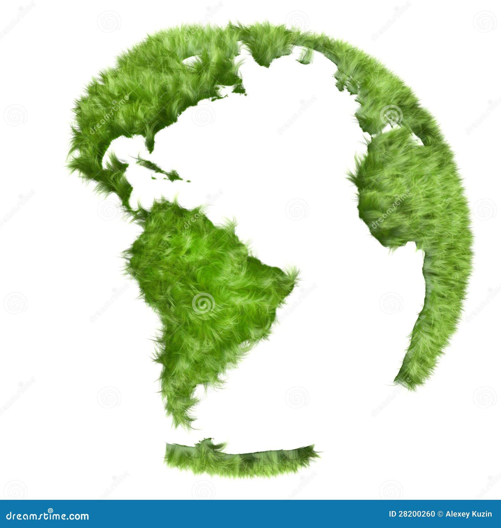 Green World Made Of Grass 3d Illustration Stock Illustration