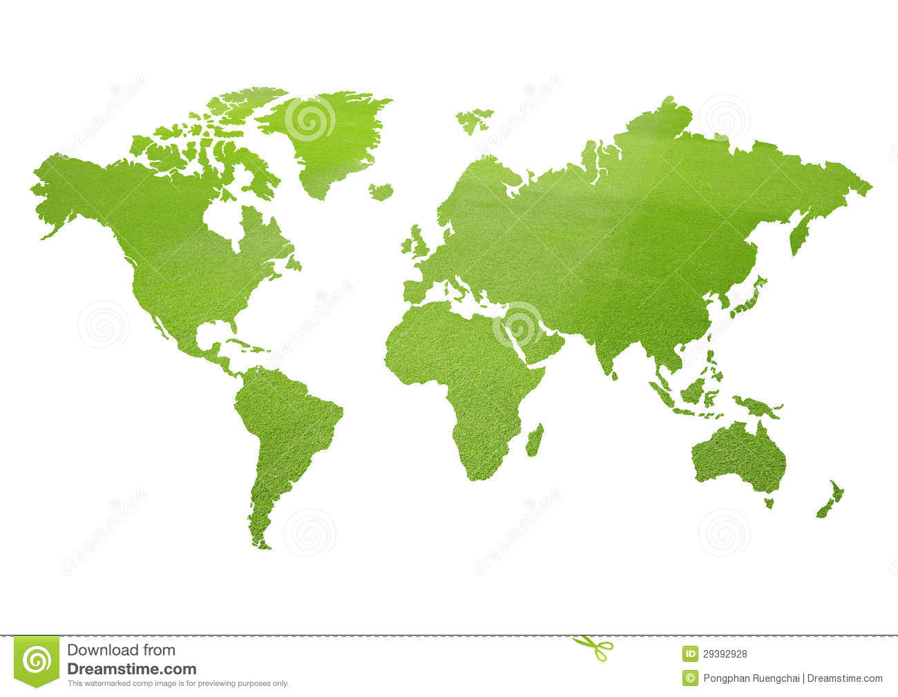 Green world map stock illustration illustration of graphic 29392928 green world map royalty free stock photo gumiabroncs Images