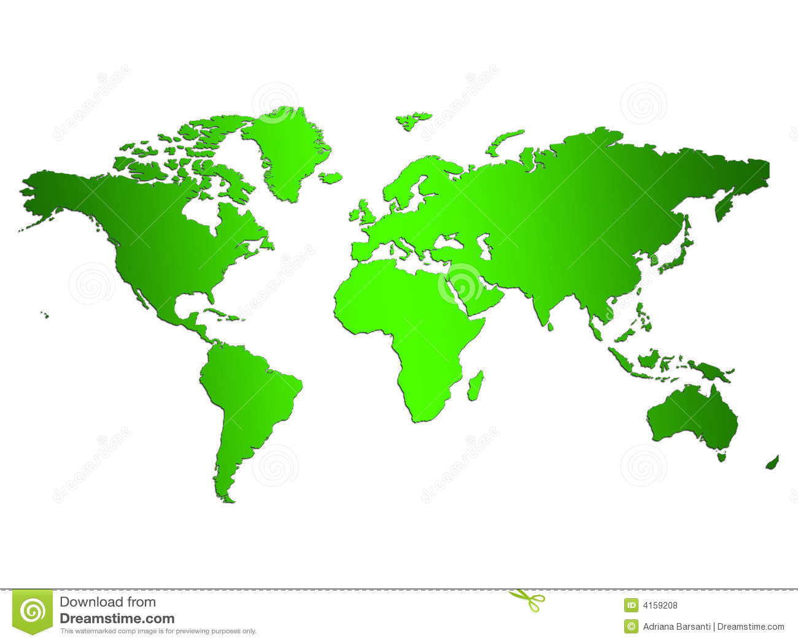 Green World Map stock illustration. Illustration of human   4159208