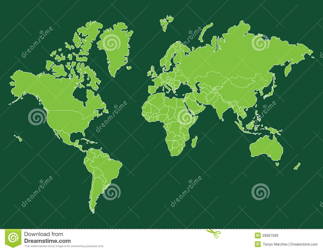World map with countries stock vector illustration of globe 29687089 download comp gumiabroncs Choice Image