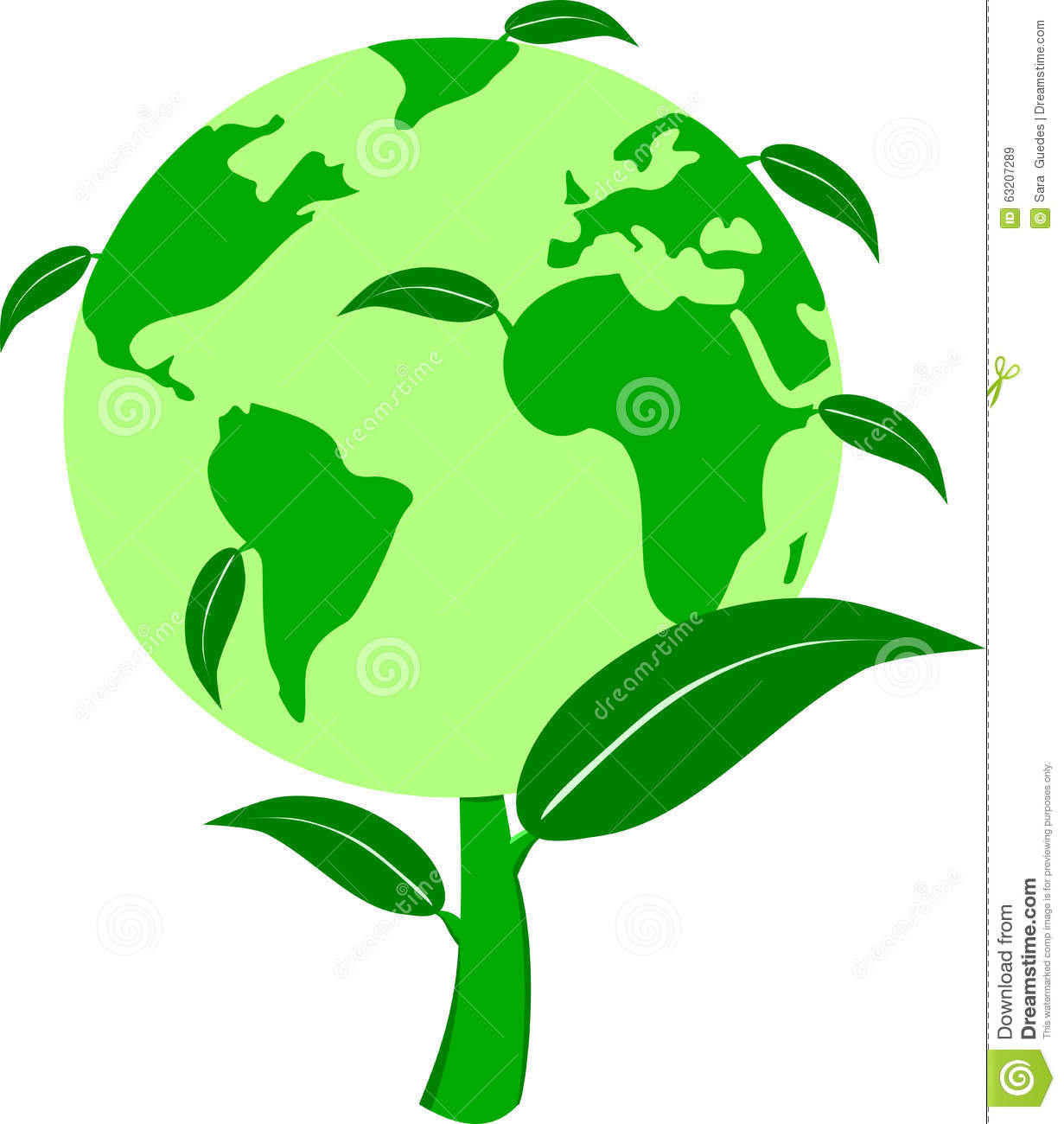 Green World Plant Stock Vector - Image: 63207289