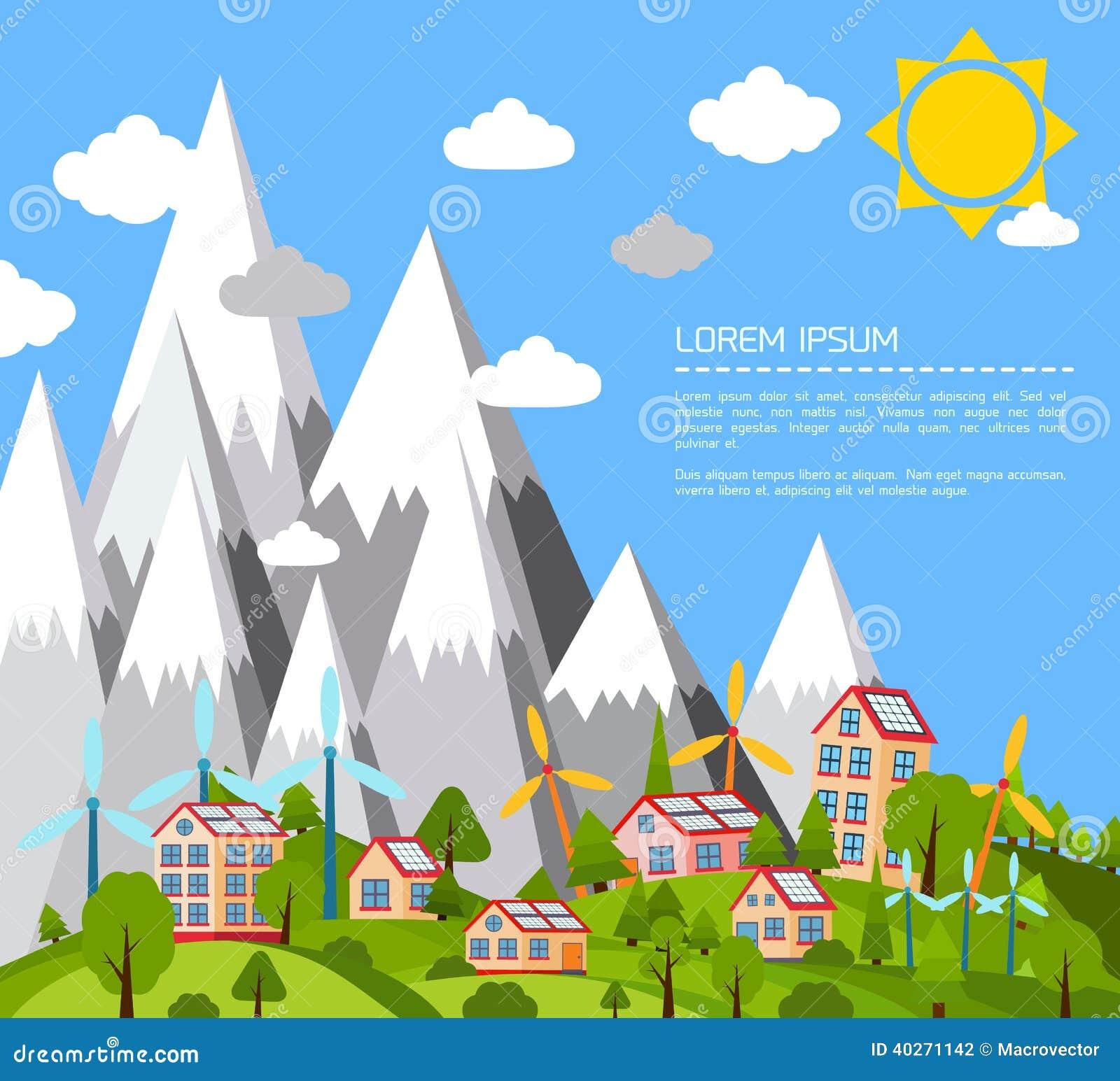 Green world poster stock vector. Illustration of park ...