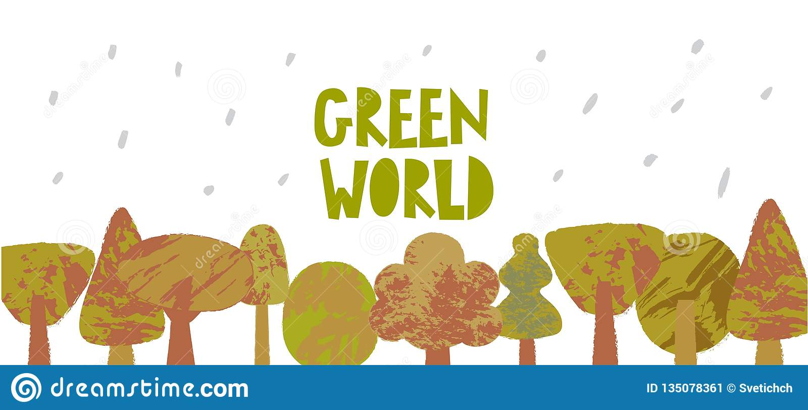Green World Vector Poster Template Stock Vector ...