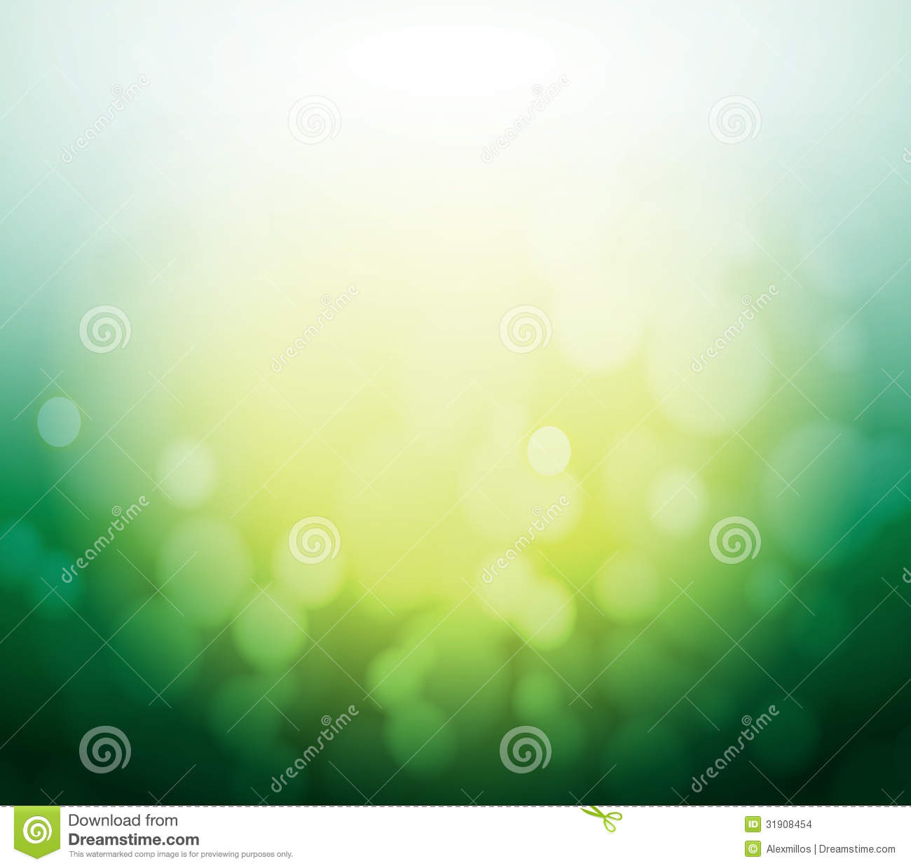 green and yellow bokeh abstract light background stock