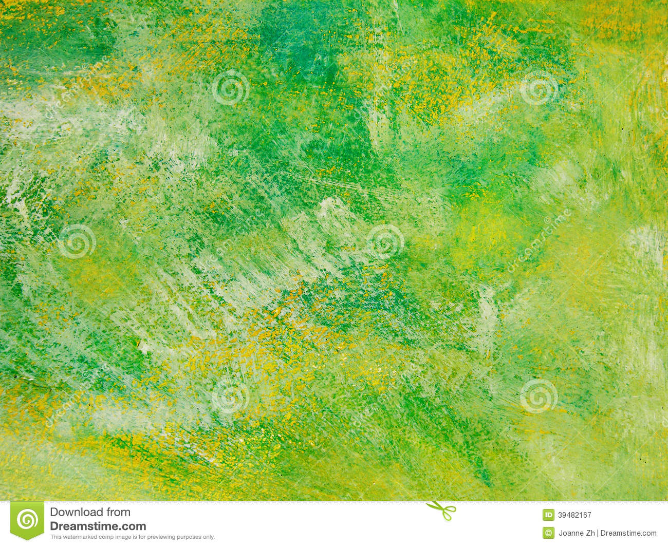 Green & yellow brush painted texture artistic