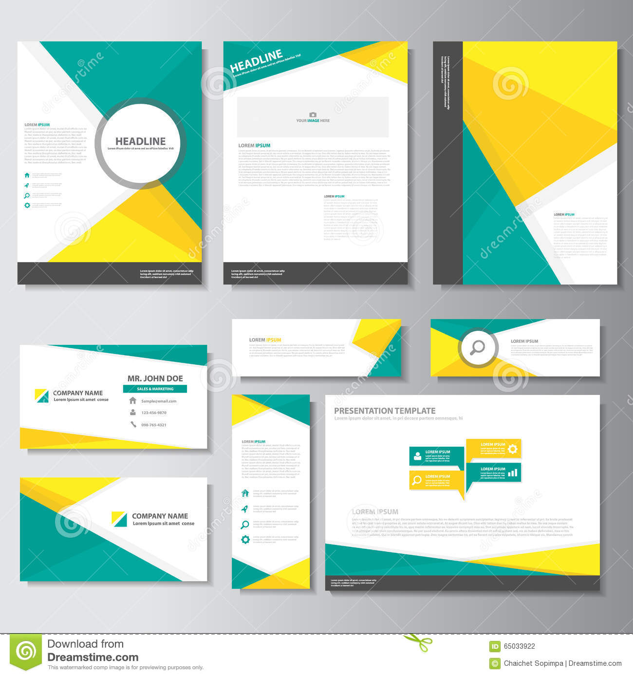 yellow and green creative flyer design stock vector image  green yellow business brochure flyer leaflet presentation card template infographic elements flat design set for marketing
