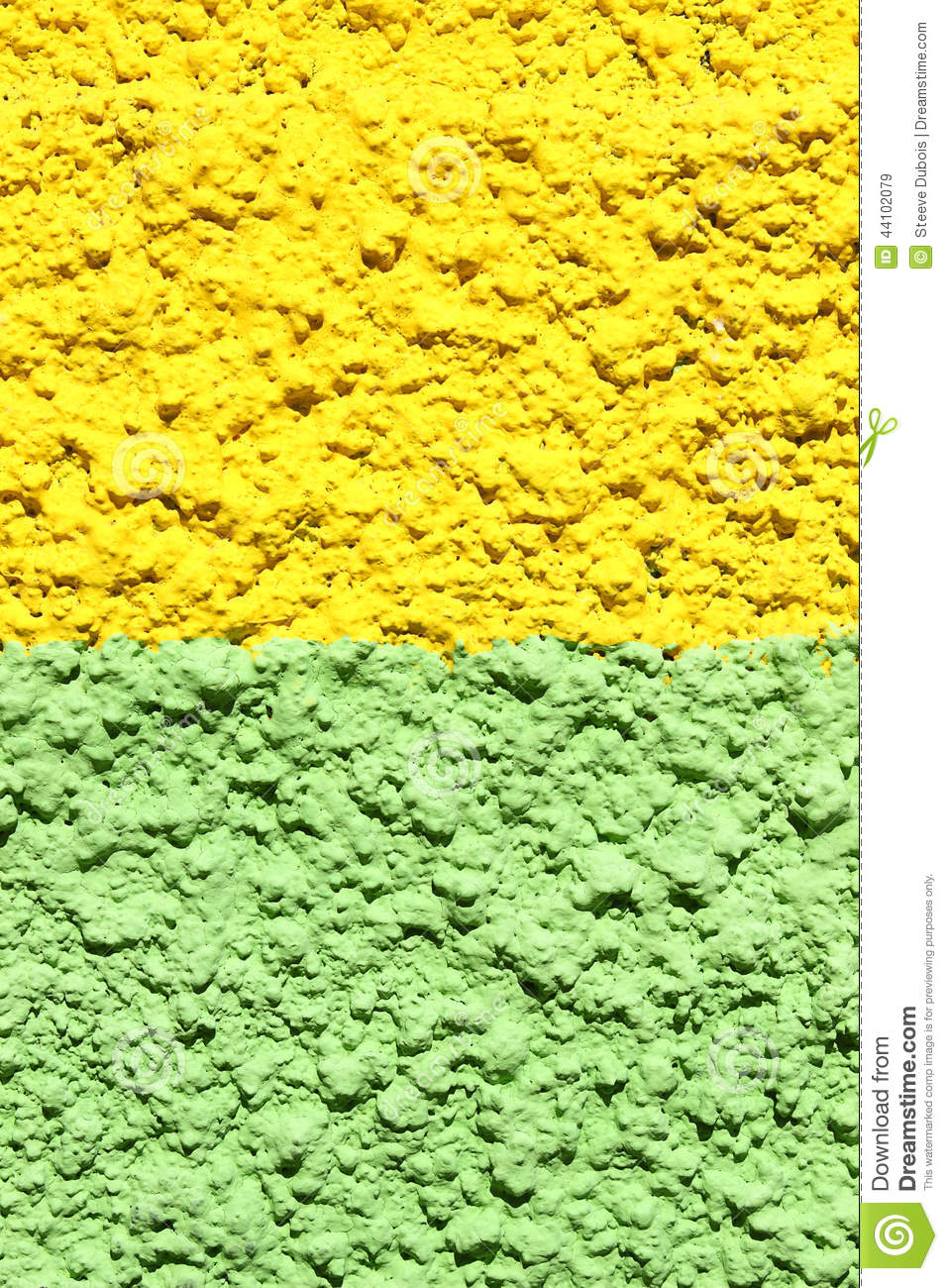 Green And Yellow Concrete Wall Stock Photo Image 44102079