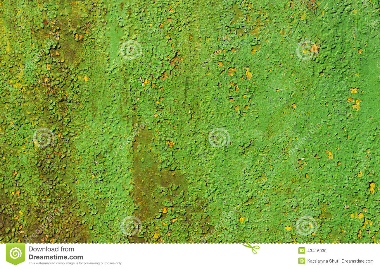 Green And Yellow Old Wall Paint Stock Photo Image 43416030